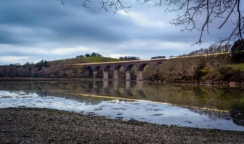 Viaduct with the 18.50 Train going over from Saltash