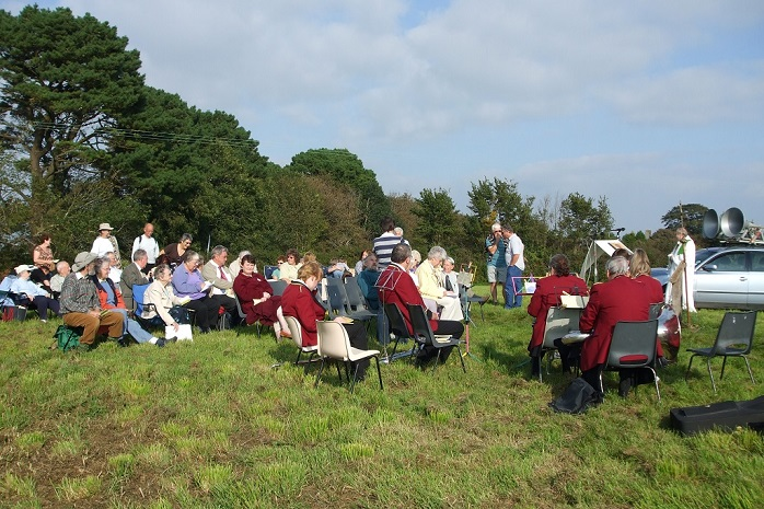 Harvest festival at Hitchings field